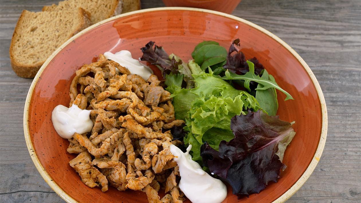 Hellmann´s Gyros Zatziki Salat und Brot
