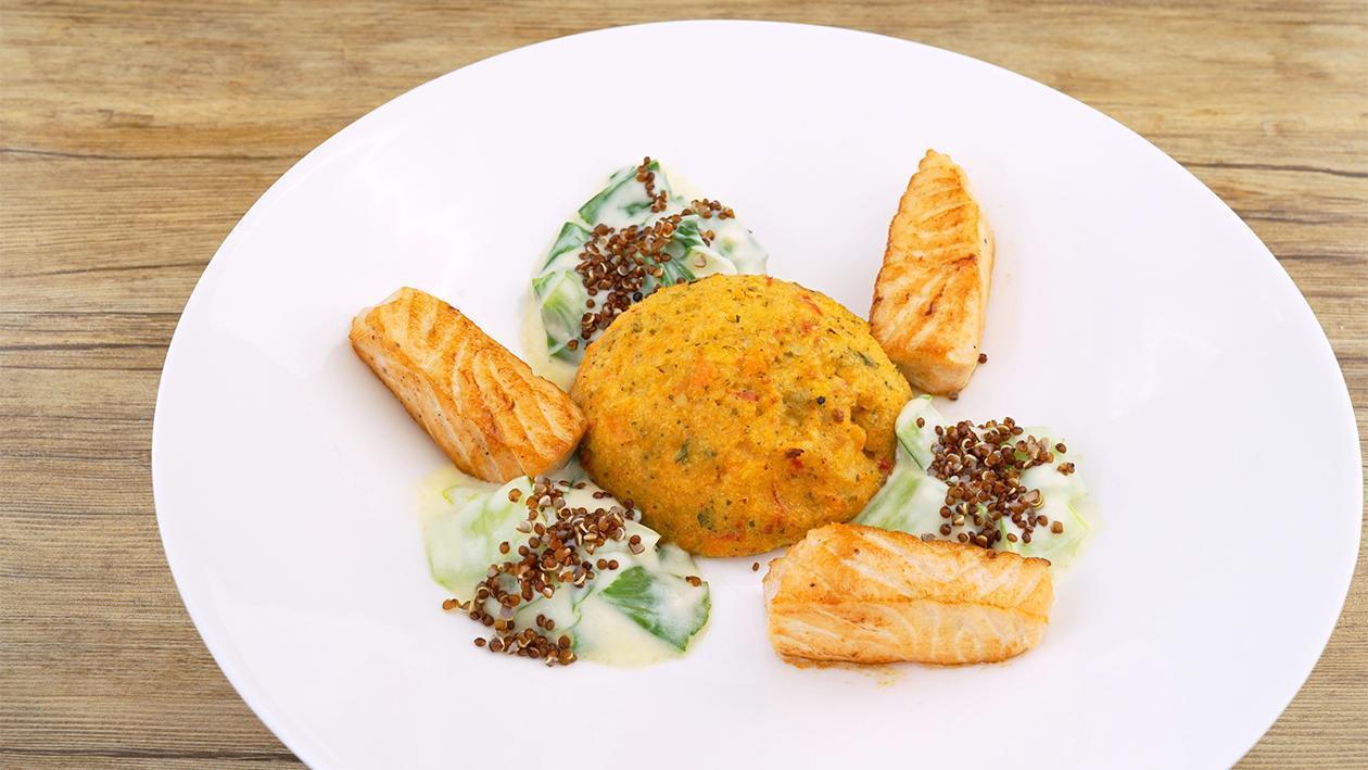 Hellmann´s Lachs - Asia Gemüse Couscous - Pak Choi Rahm mit Quinoa