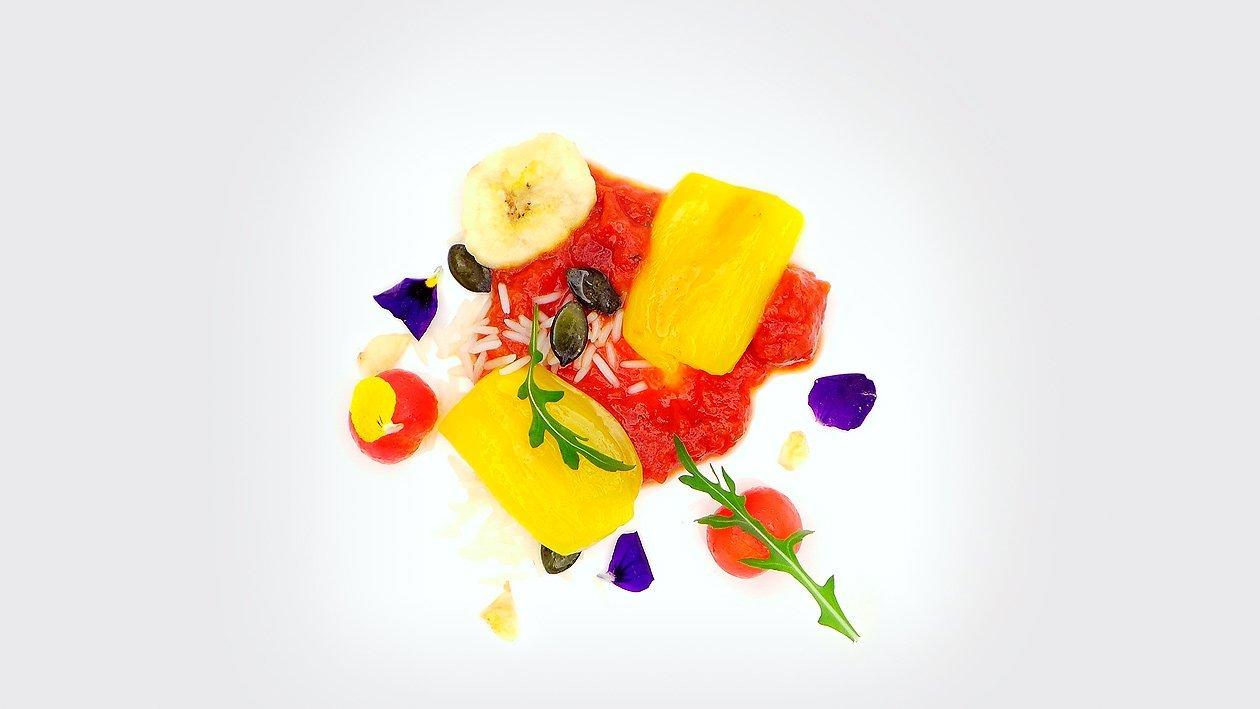 Jackfruit - Tomate - Reis - Banane