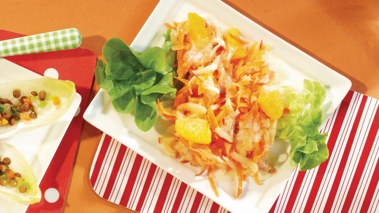 Karottensalat mit Orangenjoghurt