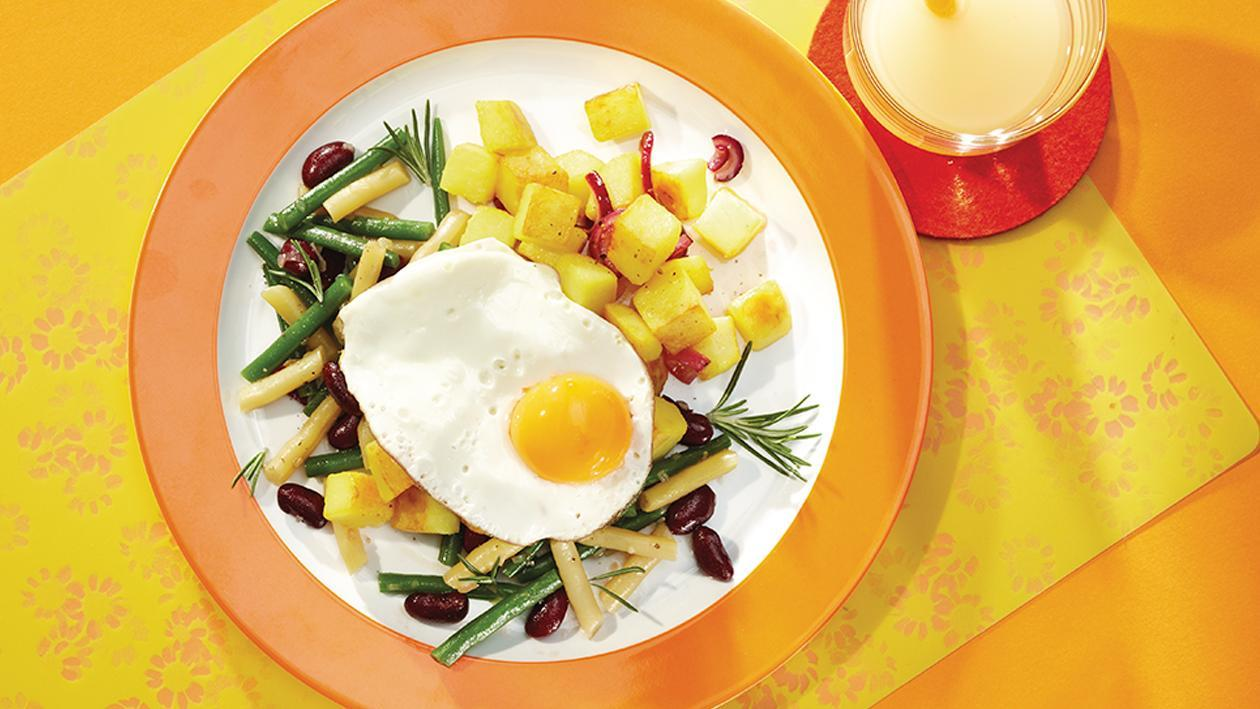 Kartoffelpfanne mit Bohnenmix