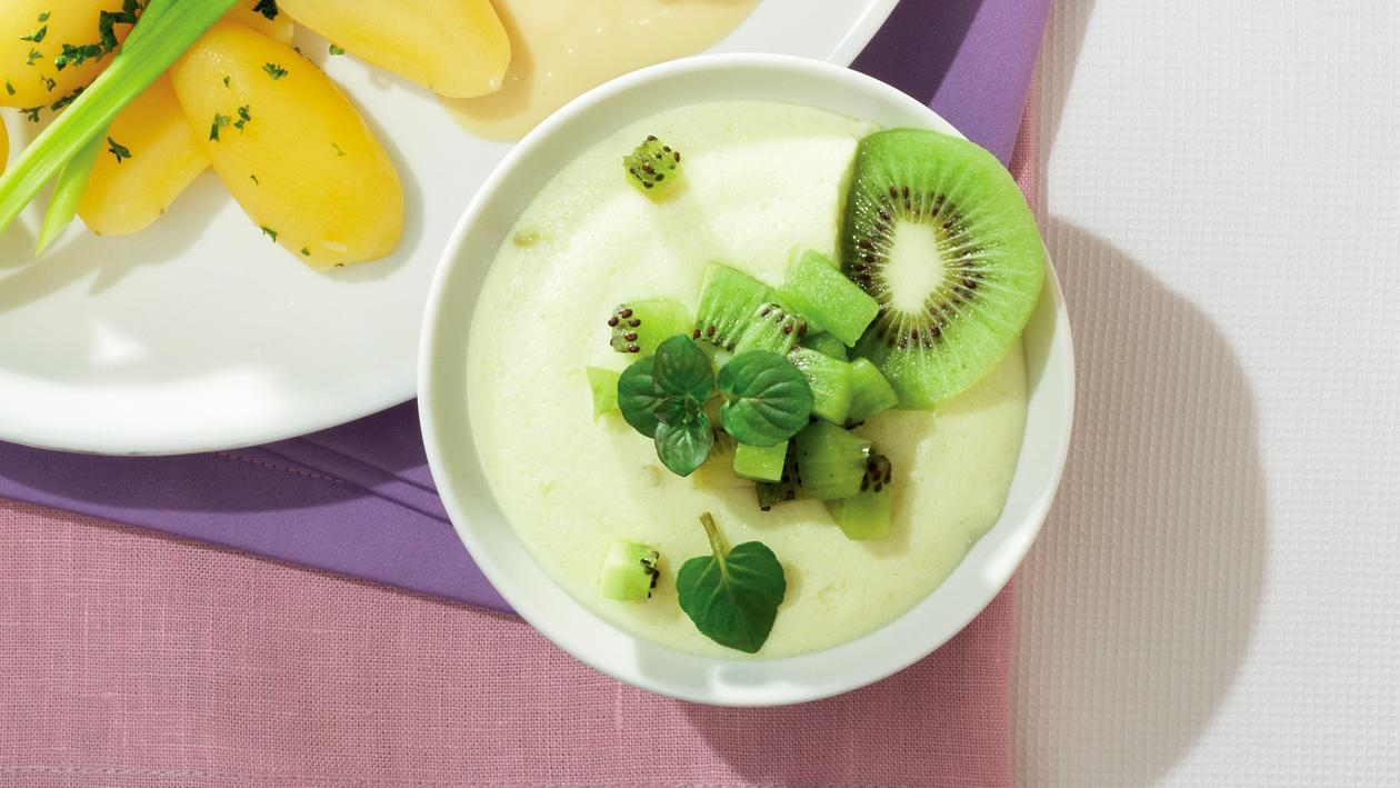 Kiwi-Bananencreme mit Kiwi-Salat