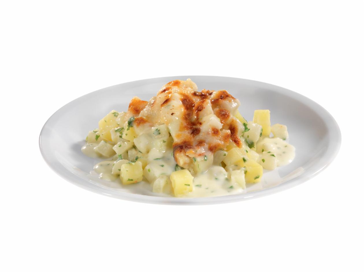 Kohlrabi-Kartoffel-Rahmgemüse mit Petersilie