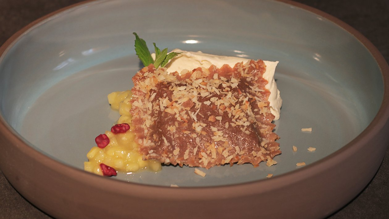 Kokokscreme/ Ravioli / Ananas