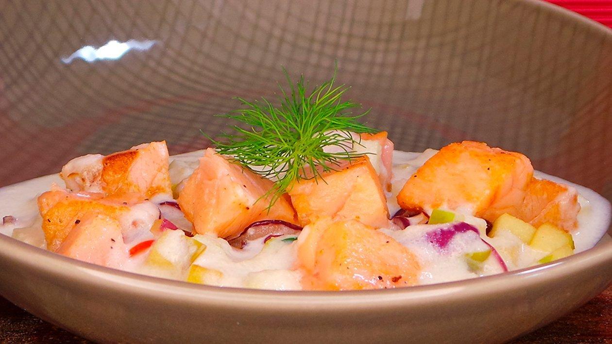 Lachs Ceviche mit mediterranem Gemüse