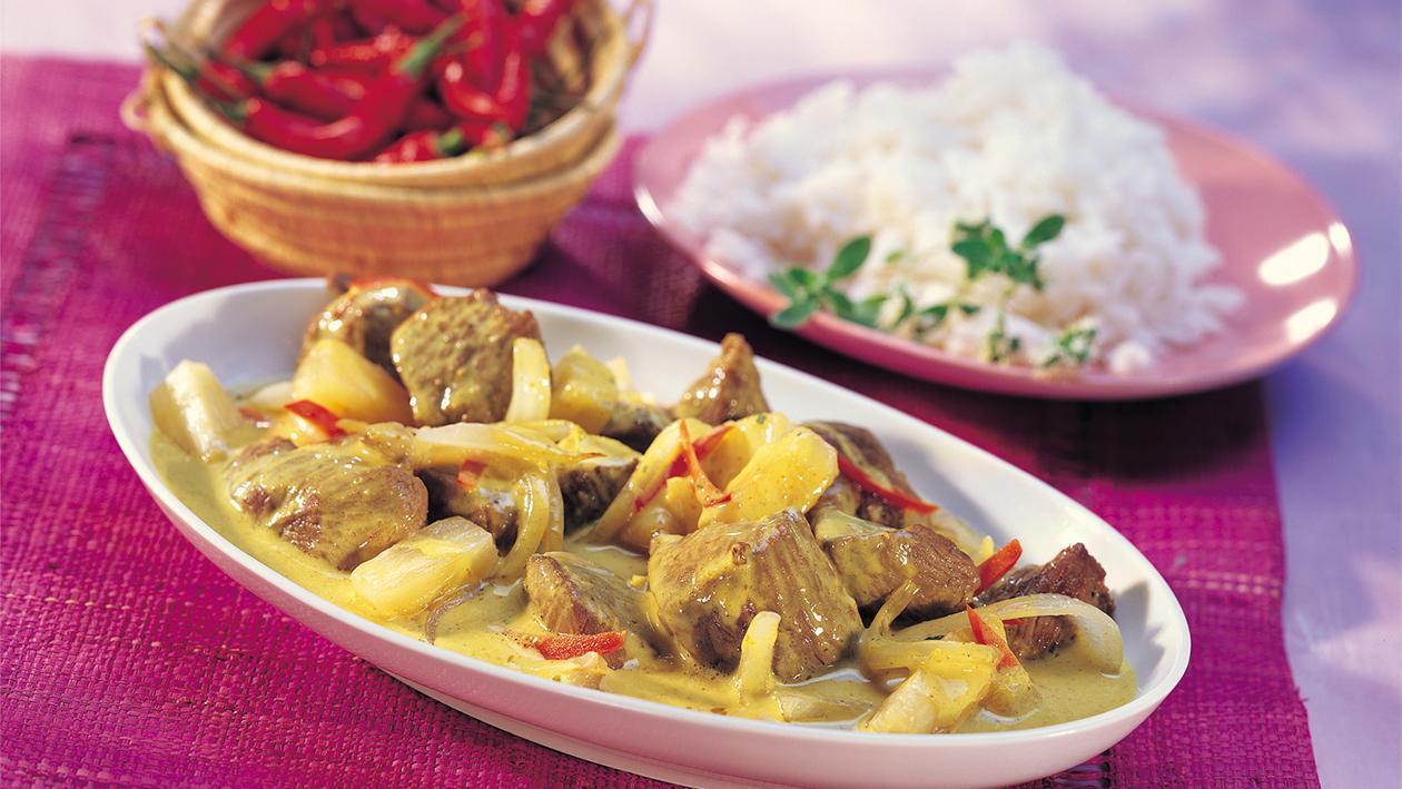 Lamm-Curry mit Kokos und Ananas