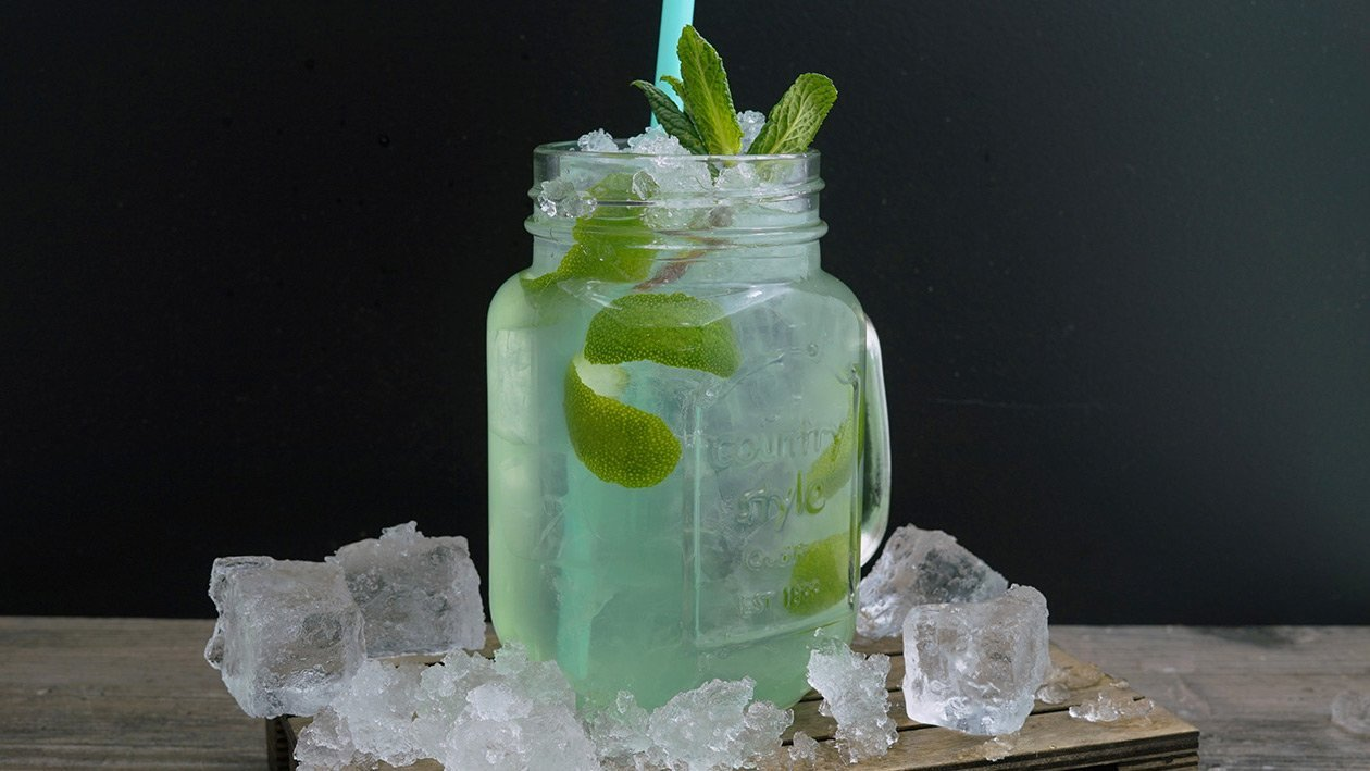 Limetten-Apfel Limonade