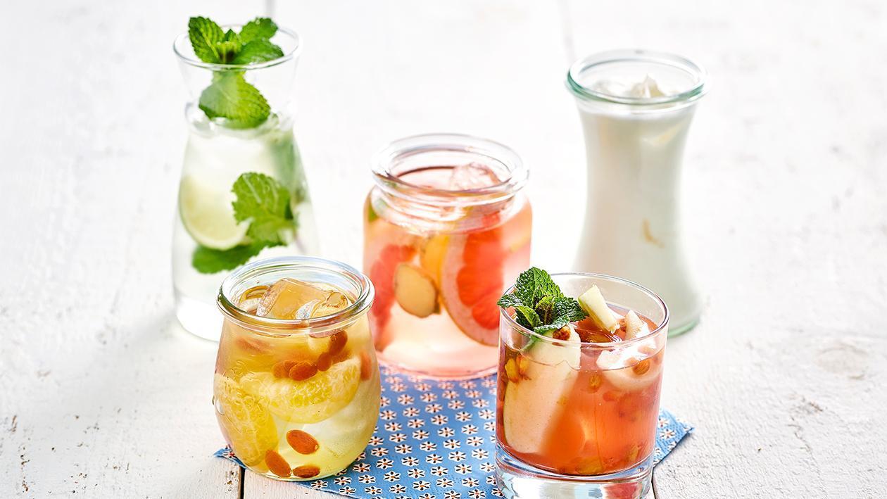 Mandarinen Goji Beeren Wasser