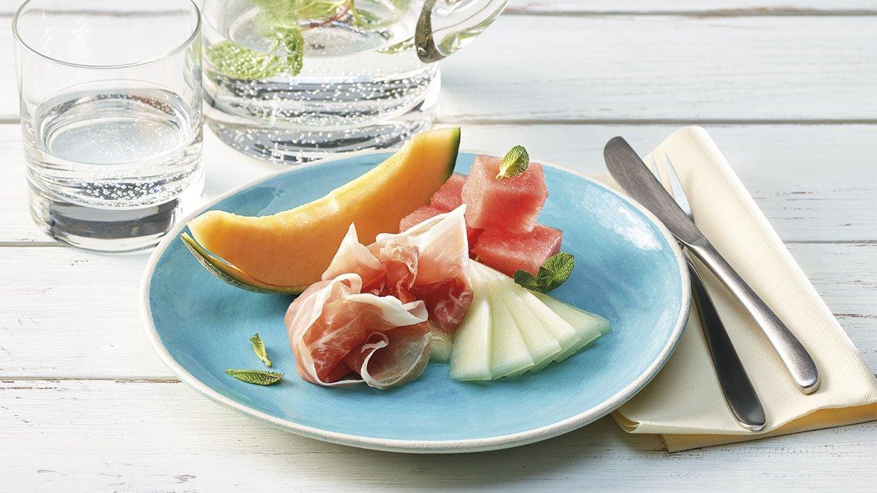 Melonen mit Rohschinken