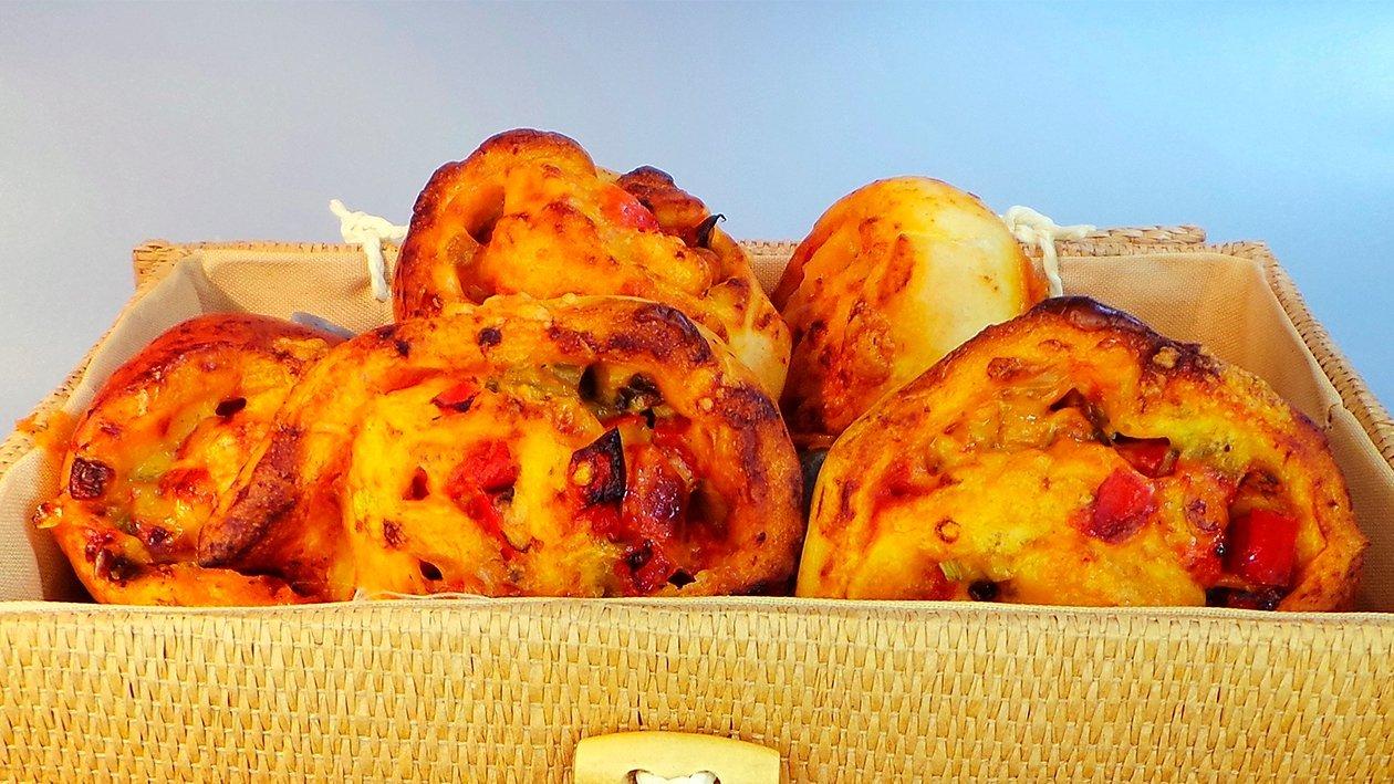Paprika - Pizzabrötchen