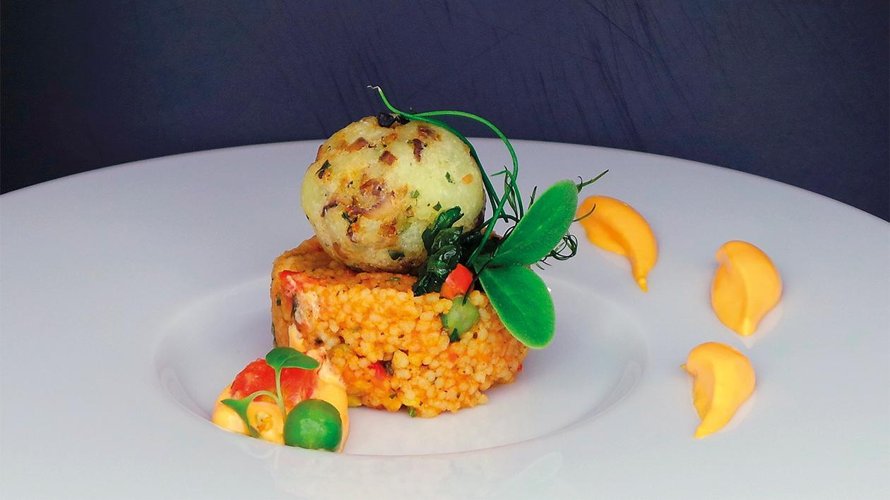 Pilz- Bifteki mit Cous Cous