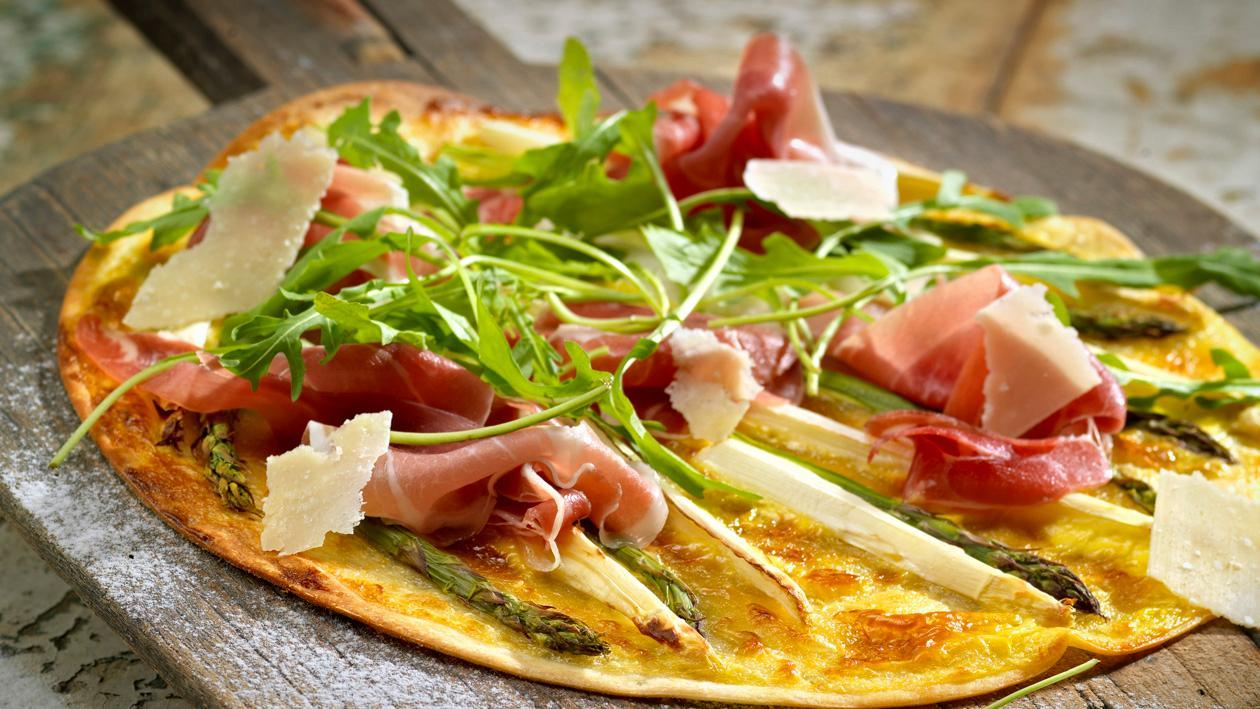 Pizza mit Hollandaise