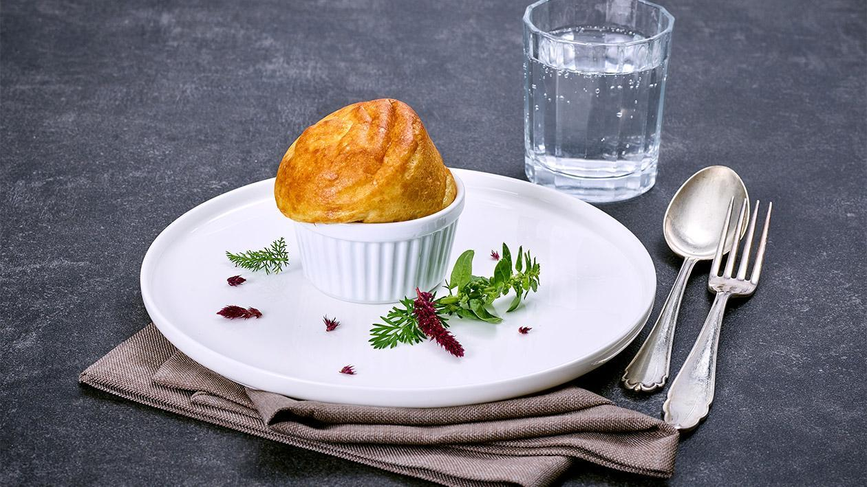 Pürierte Kost Käsesoufflè