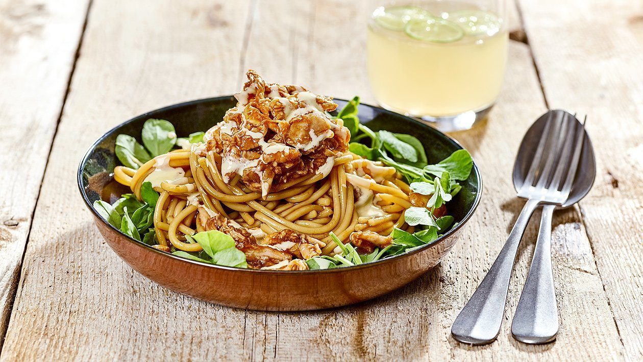 Pulled Chicken BBQ Pasta