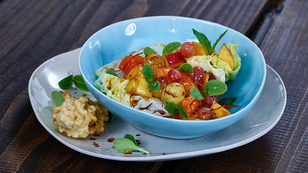 Rojak Fruchtsalat mit Cashewnüssen