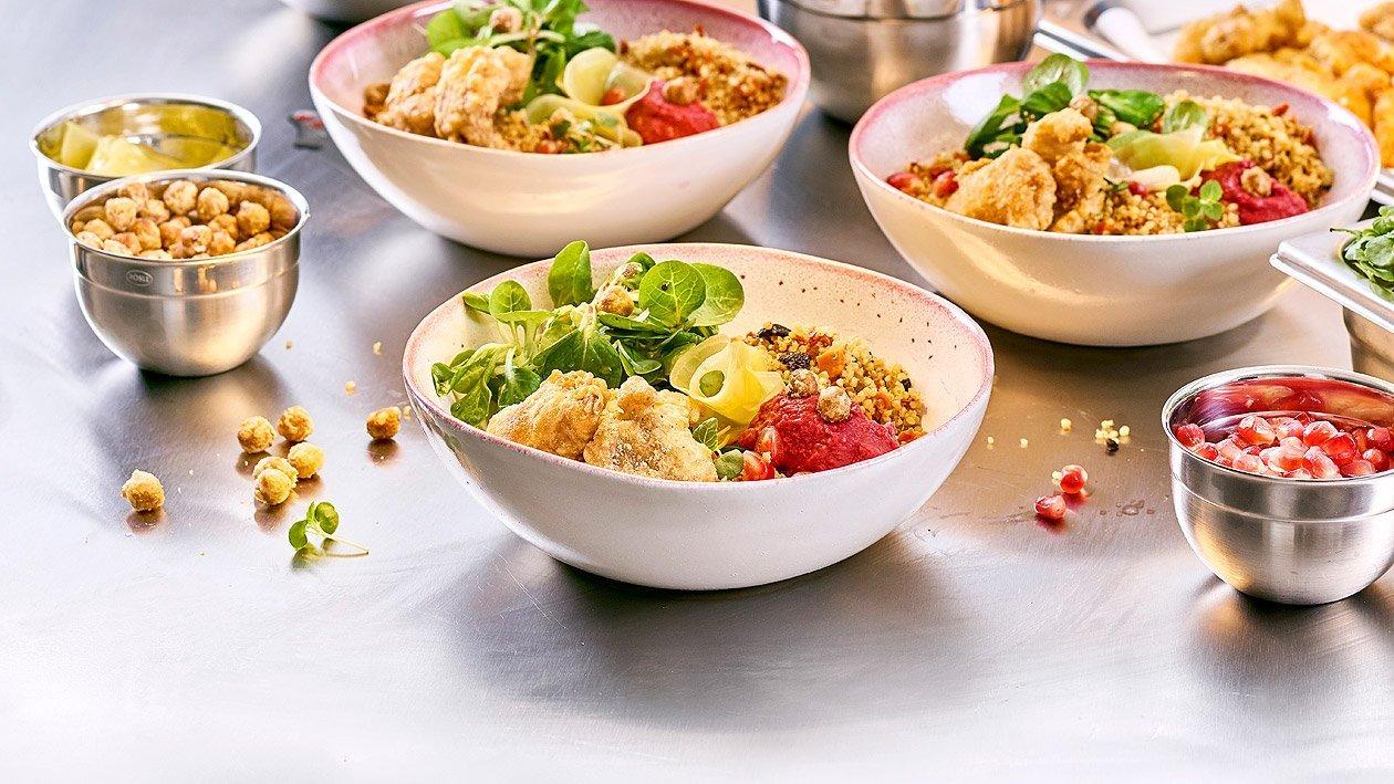 Salad Bowl mit Tempura NoChicken Chunks