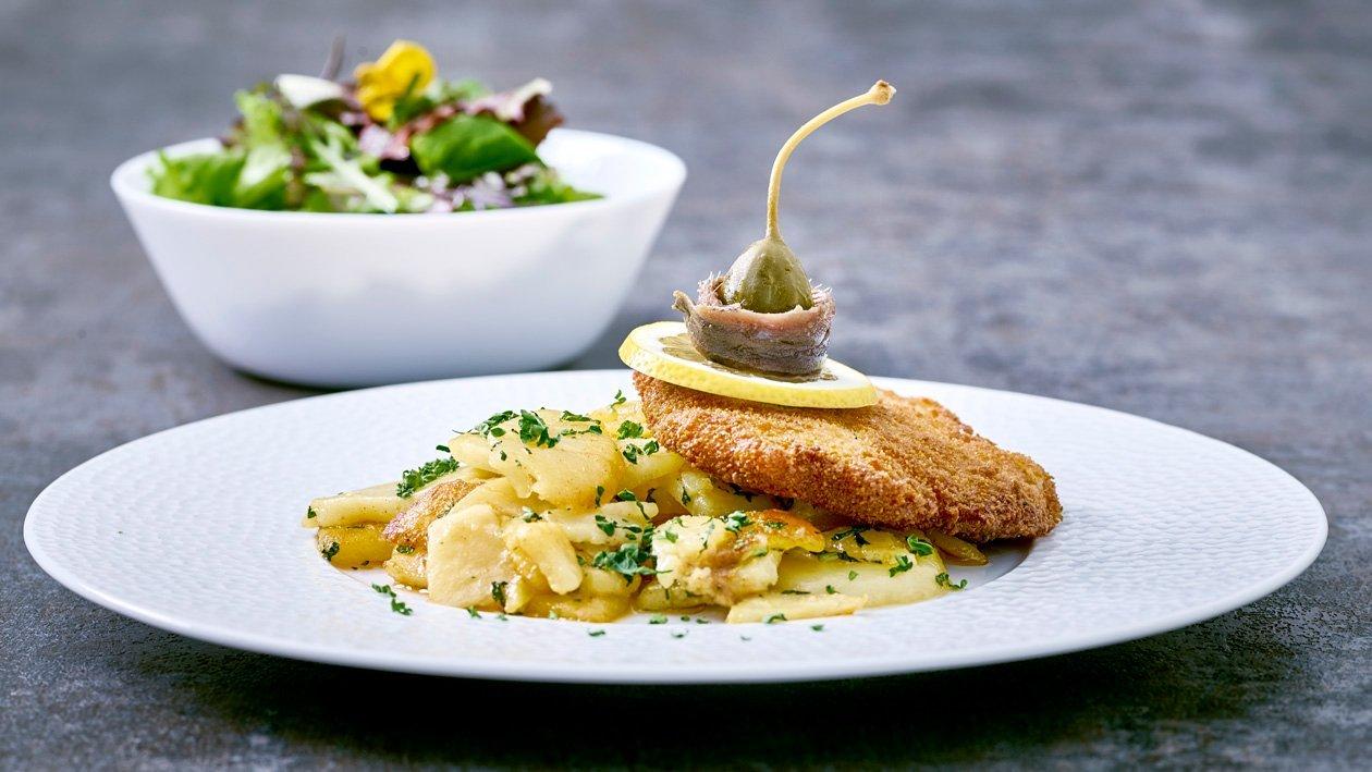 "Schnitzel""Wiener Art""-Bratkartoffeln-Salat"