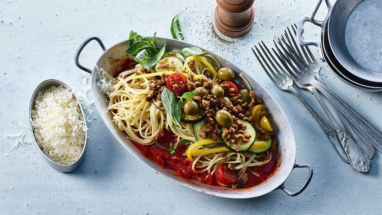 Spaghetti mit Gemüse - Tomaten - NoMince