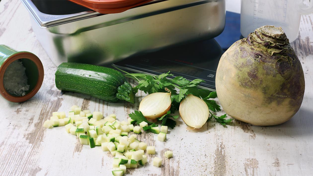 Steckrüben Zucchinieintopf