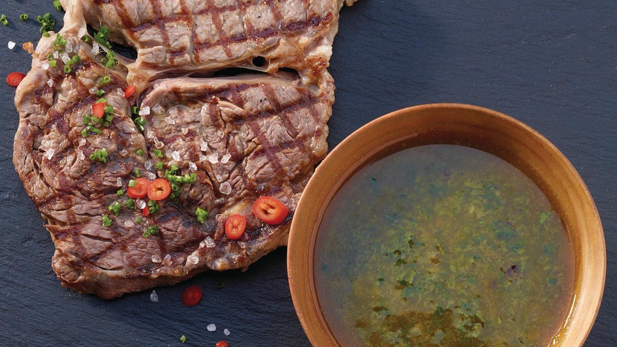 T- Bone mit Argentinische Chimichurri Sauce