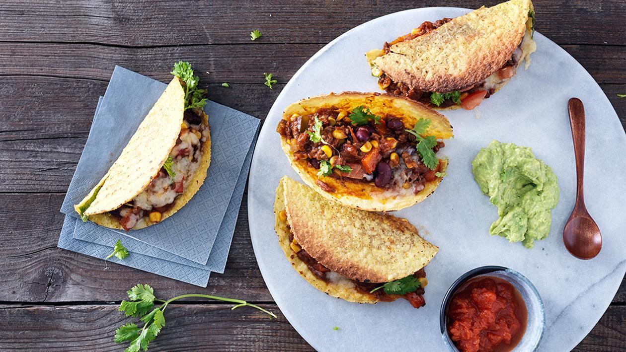 Tacos de maiz con carne