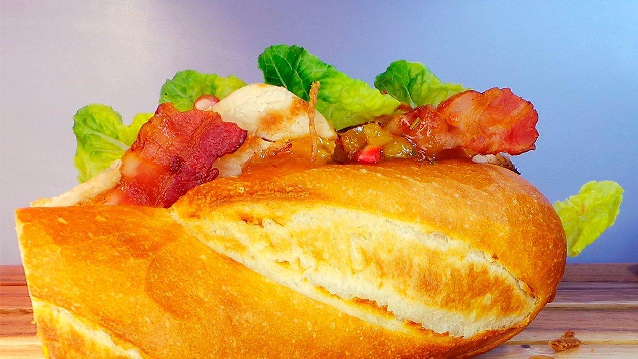 Truthahn Sandwich mit Speck und Aprikosen - Orangen - Chutney