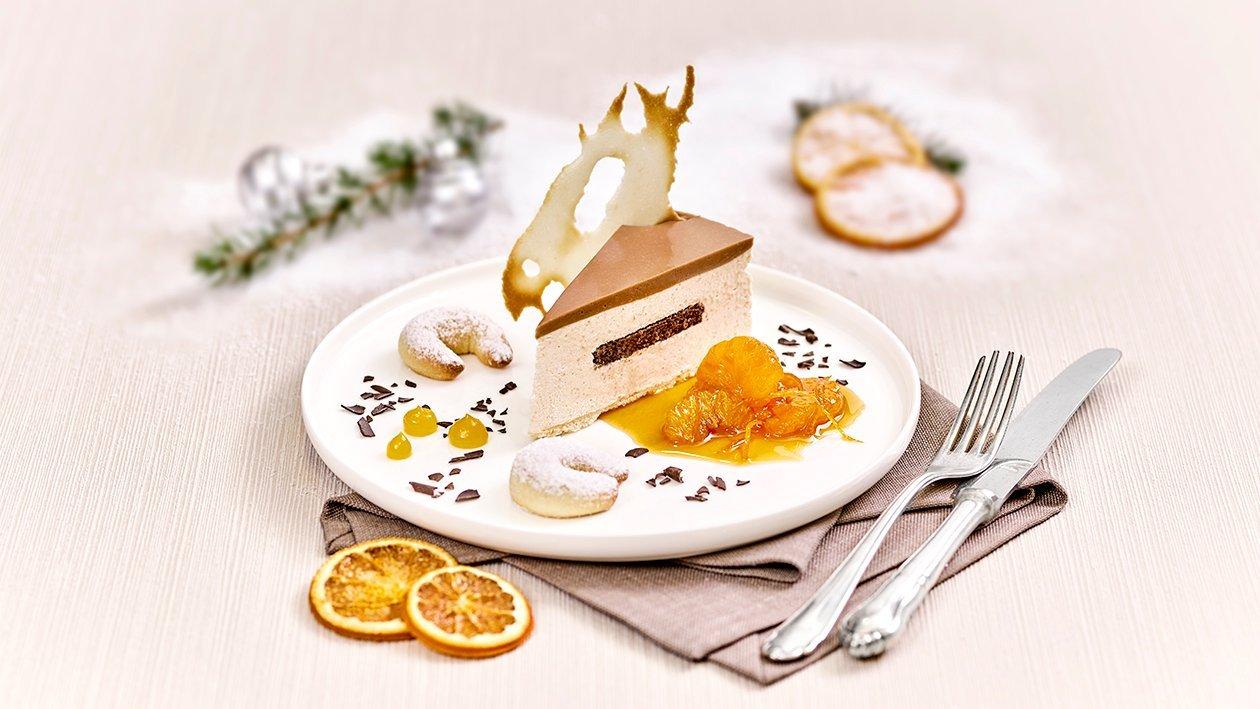 Vanillekipferl – Topfentorte mit Mandarinenragout