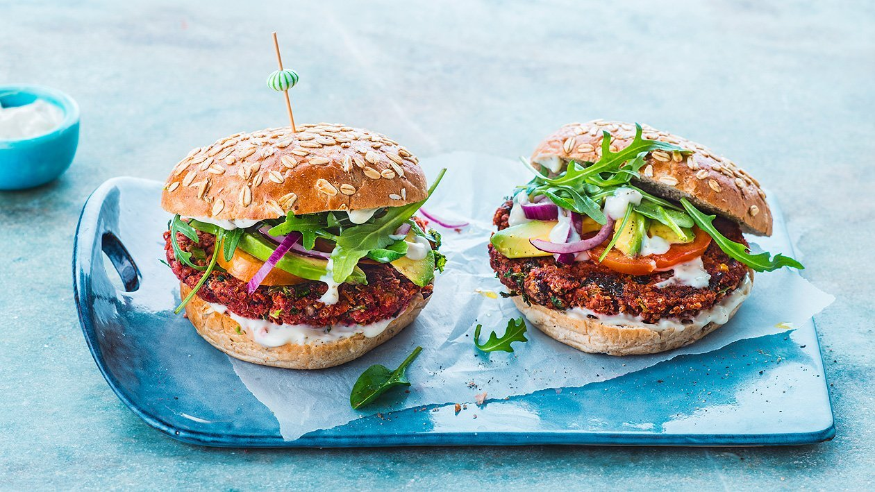 Vegan Black Bean Quinoa Burger