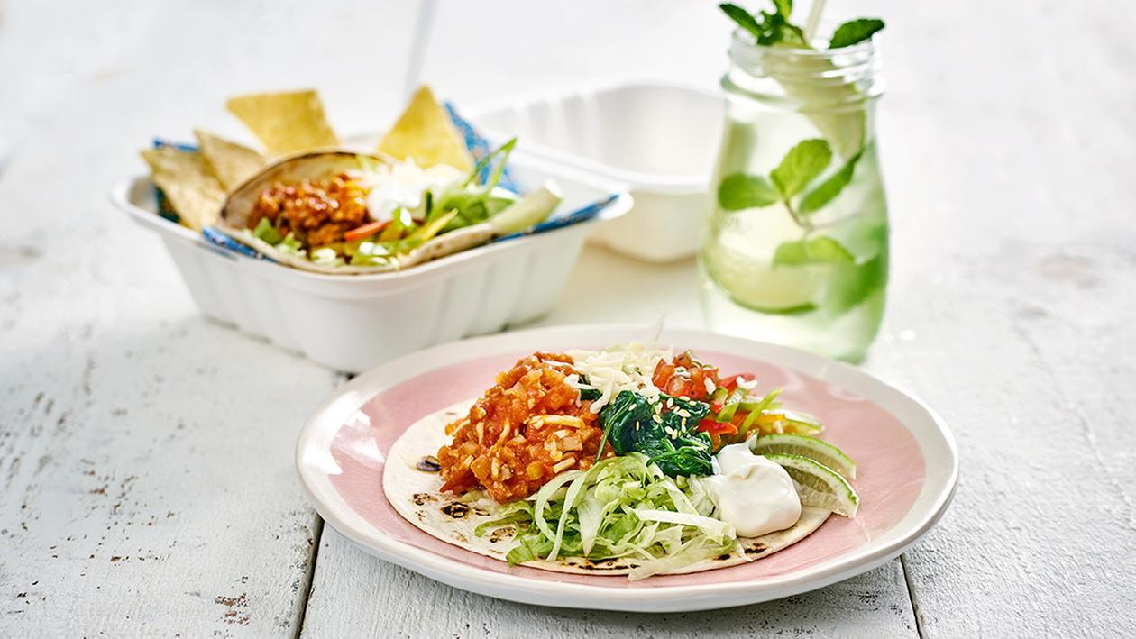 Vegetarische Tortillas mit Tomatensalsa To - Go