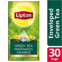 Lipton Πυραμίδα  Green Tea Mandarin Orange 30 Φακελάκια