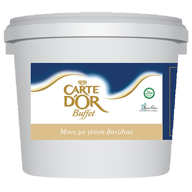 Carte D' Or Buffet Μους με Γεύση Βανίλια 5 kg - Ένα εξαιρετικό γεύμα γίνεται ακόμα καλύτερο με ένα σπουδαίο γλυκό