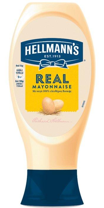 Hellmann's Μαγιονέζα Real Top Down 430 gr -