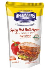 Hellmann's Dressing για Σάντουιτς Καυτερή Πιπεριά με Tabasco 570 ml
