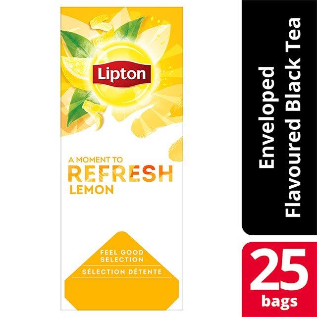 Lipton Μαύρο Τσάι Λεμόνι 25 Φακελάκια