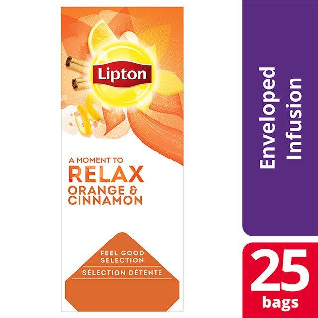 Lipton Μαύρο Τσάι με Πορτοκάλι και Κανέλα -