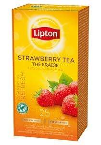 Lipton Μαύρο Τσάι Φράουλα 25 Φακελάκια -