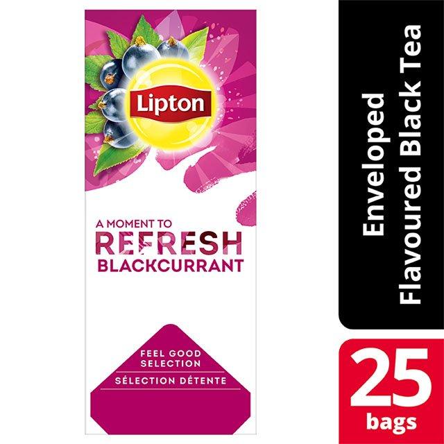 Lipton Μαύρο Τσάι Φραγκοστάφυλλο 25 Φακελάκια -
