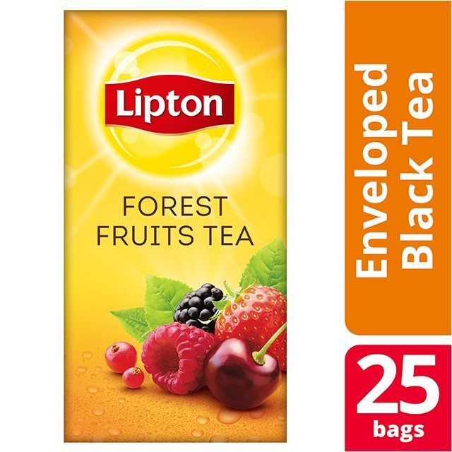 Lipton Μαύρο Τσάι Φρούτα του Δάσους 25 Φακελάκια -