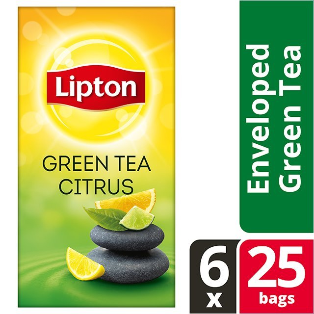 Lipton Πράσινο Τσάι Εσπεριδοειδή 25 Φακελάκια -
