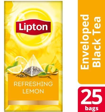 Lipton Πυραμίδα Λεμόνι 25 Φακελάκια -
