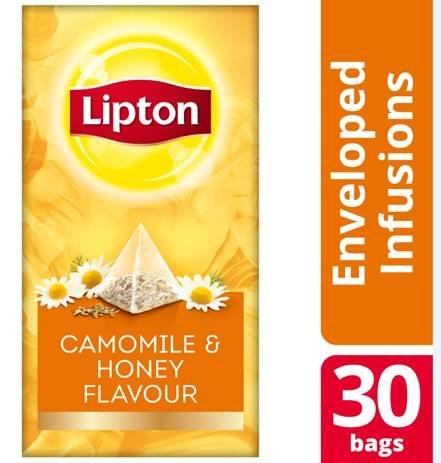 Lipton Πυραμίδα Χαμομήλι και Μέλι 30 Φακελάκια -