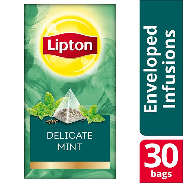 Lipton Πυραμίδα Delicate Mint 30 Φακελάκια -