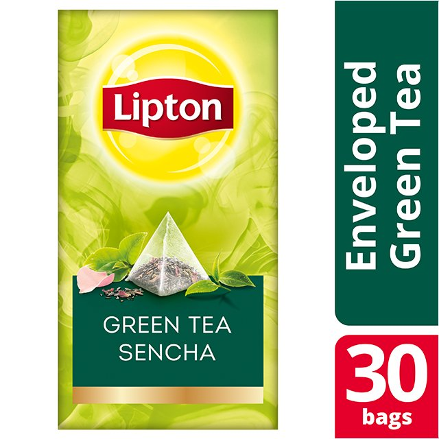 Lipton Πυραμίδα Green Tea Sencha 30 Φακελάκια -