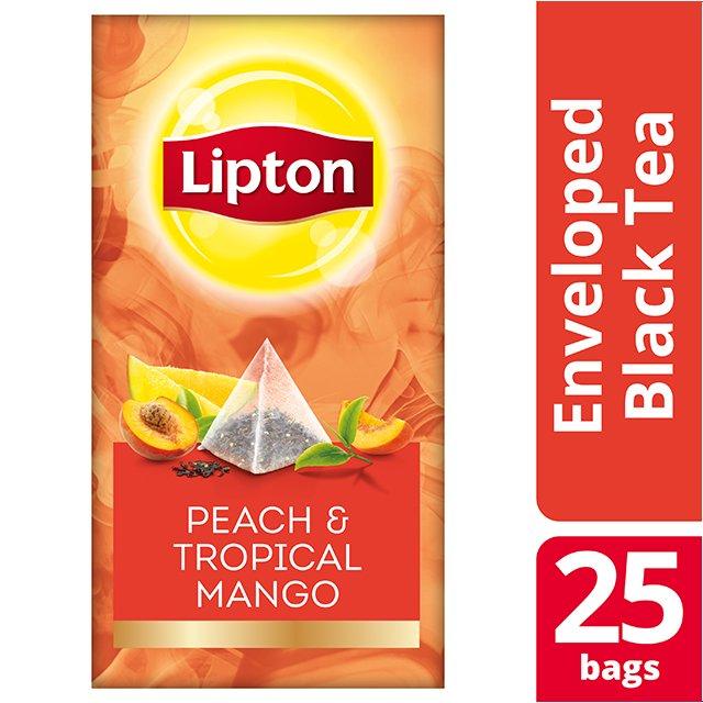 Lipton Πυραμίδα Peach & Tropical Mango 25 Φακελάκια -