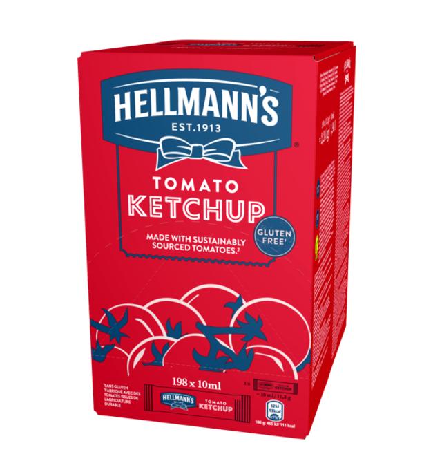 Hellmann's  Κέτσαπ Μεριδάκια 10 ml - Μεριδάκια Hellmann's: Τα συνοδευτικά υλικά που αγαπούν οι πελάτες μου σε απλή και ελεγχόμενη για την ποσότητα & το κόστος συσκευασίας