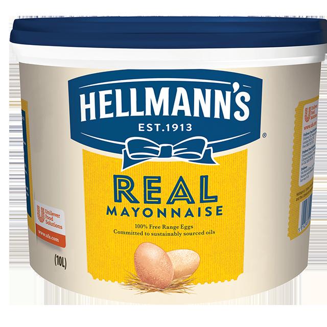 Hellmann's Μαγιονέζα Real 10 lt - HELLMANN'S REAL μαγιονέζα πλούσια γεύση, σφικτή υφή, αυθεντικό χρώμα.