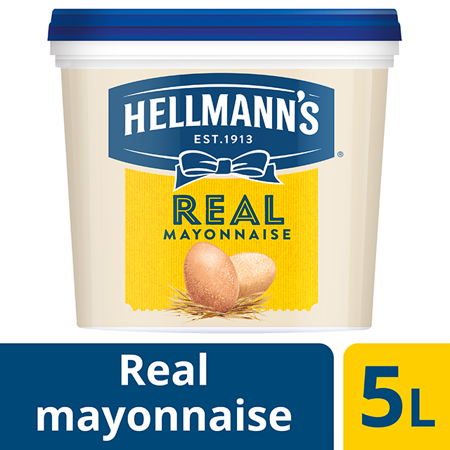 Hellmann's Μαγιονέζα Real 5 lt - HELLMANN'S REAL μαγιονέζα πλούσια γεύση, σφικτή υφή, αυθεντικό χρώμα.