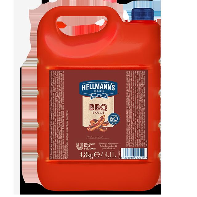 Hellmann's Μπάρμπεκιου 4,8 Kg - Oι πελάτες μου αγαπούν τα πιάτα με γεύση BBQ γι' αυτό θέλω να τους προσφέρω την αυθεντική γεύση και υφή που περιμένουν.