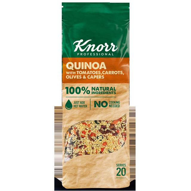 "Knorr Κινόα με Τομάτα, Καρότα, Ελιές και Κάπαρη 548 γρ - ""Θέλω να προσφέρω δημιουργικά πιάτα που είναι και διατροφικά πλούσια αλλά η εύρεση τέτοιων συστατικών μπορεί να είναι μια διαδικασία που χρειάζεται χρόνο και δεν είναι πάντα εύκολη."""