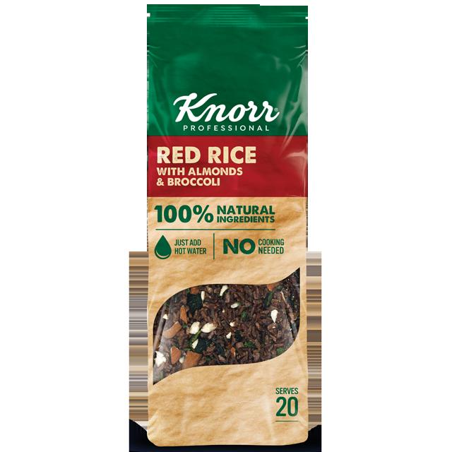 "Knorr Κόκκινο Ρύζι με Μπρόκολο και Αμύγδαλα 550 γρ - ""Θέλω να προσφέρω δημιουργικά πιάτα που είναι και διατροφικά πλούσια αλλά η εύρεση τέτοιων συστατικών μπορεί να είναι μια διαδικασία που χρειάζεται χρόνο και δεν είναι πάντα εύκολη."""